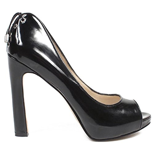 NINE WEST - Escarpins Double Sangle Femme Bout Ouvert NWHEARTACHE BLACK Talon: 12.5 cm Noir