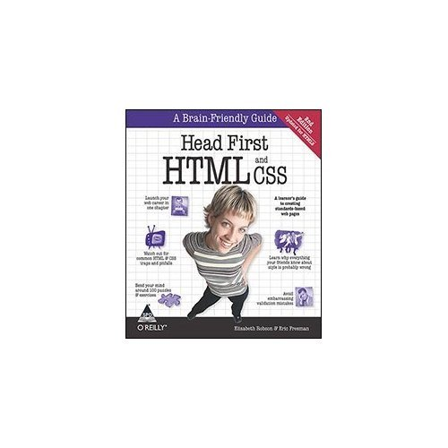 Head First HTML and CSS [Paperback] [Jan 01, 2012] Elisabeth Robson