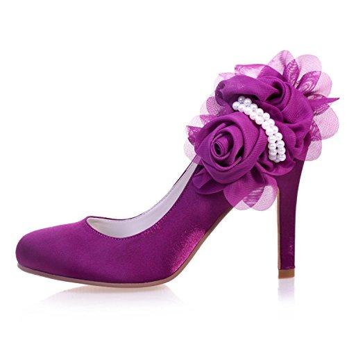 L@YC 5623-11 Scarpe Da Sposa Da Donna / Comodo Raso / Punta Stretta / Festa Di Notte E Tacchi Alti Casual / Multicolor Champagne