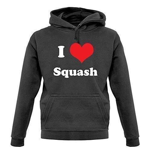 I Love Squash - Sudadera Capucha Unisex/Sudadera con Capucha - 9 Colores - Grafito, Medium
