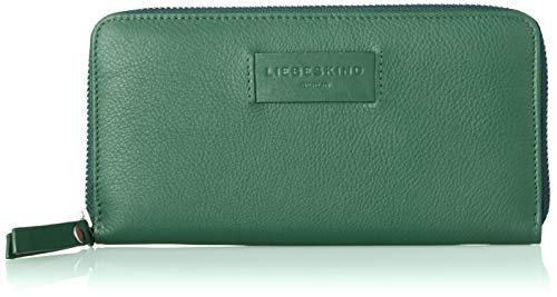 Liebeskind Berlin Damen Essential Sally Wallet Large Geldbörse, Grün (Dark Green), 2x10x20 cm