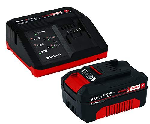 einhell batterie ladegeraet Original Einhell Starter Kit Akku und Ladegerät Power X-Change (Lithium Ionen, 18 V, 3,0 Ah Akku und Schnellladegerät, passend für alle Power X-Change Geräte)