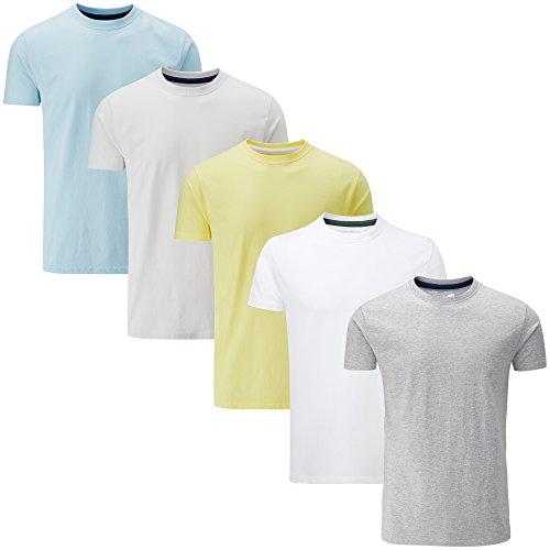 Produktbild Charles Wilson 5er Packung Einfarbige T-Shirts mit Rundhalsausschnitt (Medium, Light Essentials)