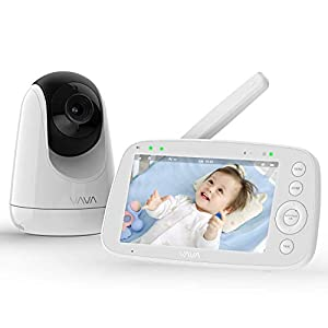 """Baby Monitor, VAVA 720P 5"""" HD Display Video Baby Monitor with Camera and Audio, IPS Screen, 480ft Range, 4500 mAh Battery, Two-Way Audio, One-Click Zoom, Night Vision and Thermal Monitor   13"""