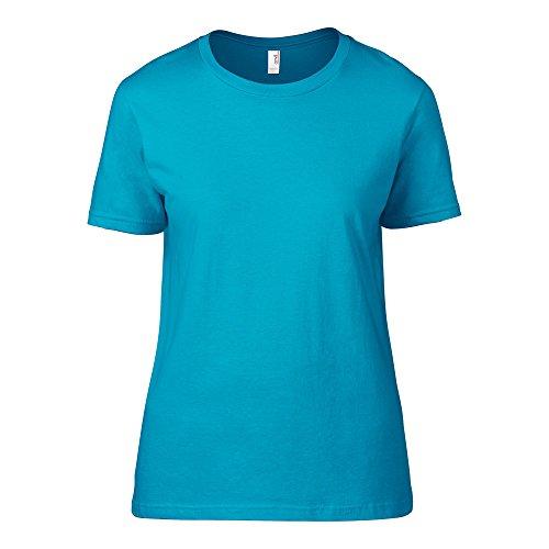 AnvilDamen T-Shirt Blau - Caribbean Blue