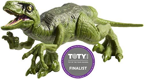 sic World Attack Pack Grüner Velociraptor, Dinosaurier Spielzeug mit 5 Bewegungspunkten, für Kinder ab 3 Jahren ()
