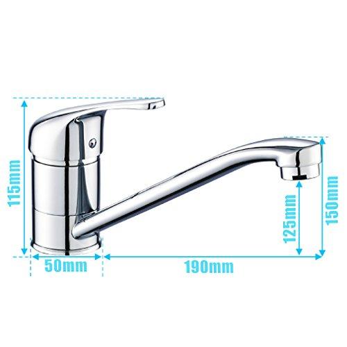 Auralum® Einhebel Spültisch Armatur Mischbatterie Wasserhahn Klasisch Design -