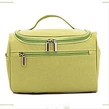 ZXLIFE@Bolsa de lavado bolsa de almacenamiento cosmético versión coreana de la bolsa de cosméticos móvil de gancho de color sólido , light green