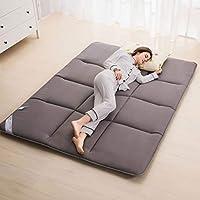 Cojín para dormir del colchón del piso gris, colchoneta Tatami, rollo de cama japonés