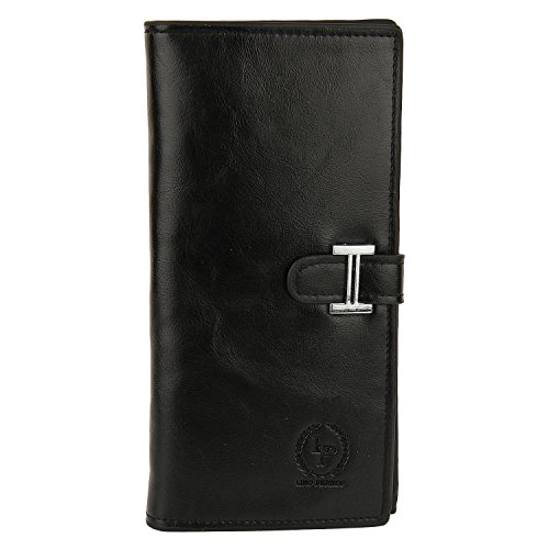 Lino Perros Women's Wallet (Black)  available at amazon for Rs.397