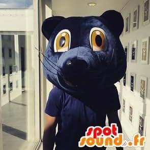 Mascotte SpotSound Amazon de tête d'ours bleu des girondins de Bordeaux