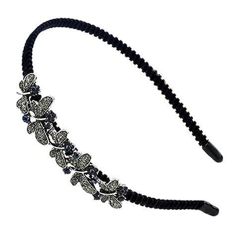 [Dragonfly] Elegant Women Crystal Headband Rhinestone Hair Band for Girls