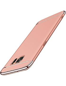 Vanki Custodia Samsung Galaxy S6 Edge 3 in 1 Hard PC Ultra Sottile Placcatura Anti-Scratch Bumper Protettiva Cover...