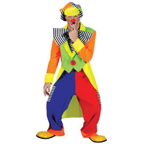 Clown Kostüm Spanky Stripes - Spanky Stripes Adult Clown Lg