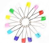 Rommaner 50pcs Plastique Métal épingles à nourrice de sécurité Clip de maintien pour enfants Kids verrouillage pour vêtements de bébé couches couches (4cm, 5.5cm)