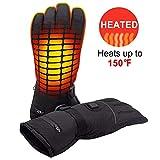Domeilleur - Guantes eléctricos calentados (4,5 V, Control de Temperatura Recargable), Large