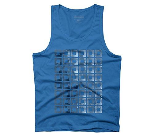 Herren-quadrat-tank-tops (SQS Herren Graphic Tank Top–Design von Menschen, Blau, 14255-21-5-879-DBH.AMEU)