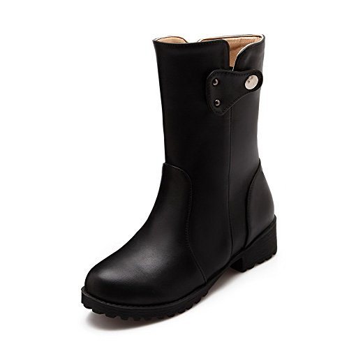 agoolar-womens-low-heels-solid-round-closed-toe-soft-material-pull-on-boots-black-37