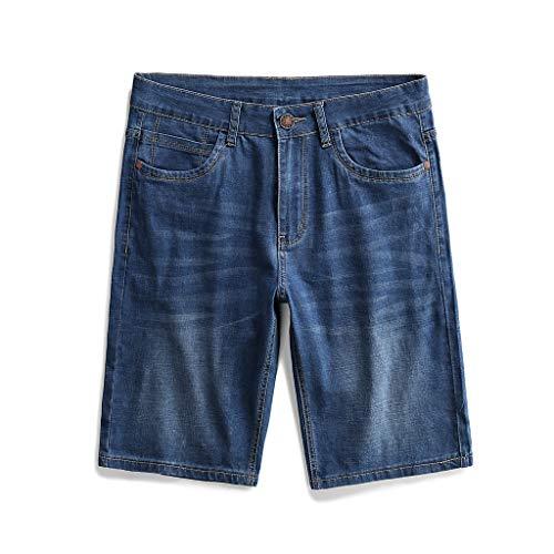 50ab1e7fa3 Mosstars ❤️ Pantaloncini Corti Uomo Casual Jeans Stile Pantaloncini Chino  Shorts Panno Corti da Uomo in Cotone 100% Taglie Forti Pantaloni Uomini ...