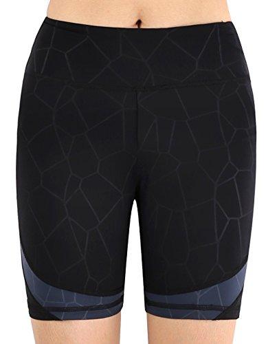 Flatik Womens Active Running Yoga Short Workout Shorts Pocket