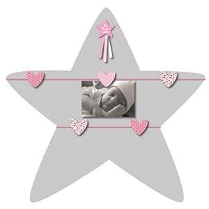 Titoutam-T1341-Décoration-Pêle-Mêle Etoile 5 Vues Baby-Rose