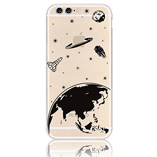 Sunroyal iPhone 7 Plus 5.5 Zoll Kreativ Logo Hülle Case Transparent Handyhülle Schutzhülle Durchsichtig TPU Crystal Clear Case Backcover Bumper Slimcase Bildserie Weich Silikon Schutzhülle Anti- Stoß, Pattern 16