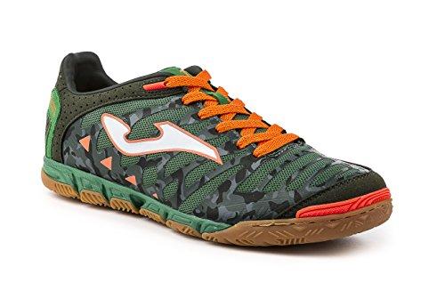 Joma , Chaussures pour homme spécial foot en salle Verde Camuflaje-Naranja