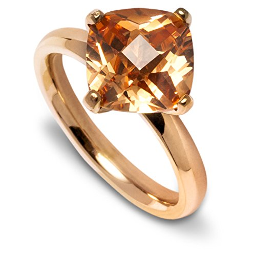 gooix Ring 444-05613 Edelstahl roségold Kristall braun Schmuck Gr. 56