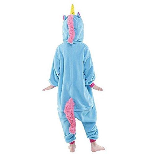Kenmont Jumpsuit Tier Cartoon Einhorn Pyjama Overall Kostüm Sleepsuit Halloween Cosplay Animal Sleepwear für Kinder Baby Blau
