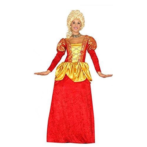 Guirca costume marchesa contessa nobile veneziana per adulti, rosso, m, 84331