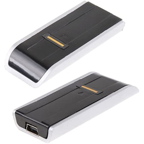 Seguridad biométrica de huellas dactilares USB lector de contraseña para Laptop PC color plata