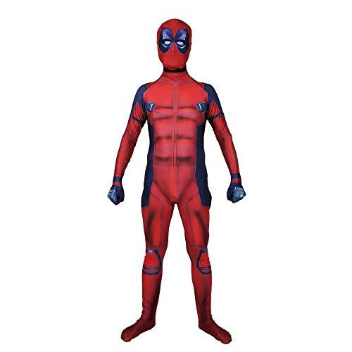 SEJNGF 3D-gedruckte Cosplay-Einteilige Strumpfhose Aktivität Spielanzug Halloween Charakter Performance Kleidung (Kopfbedeckung Kann Getrennt ()