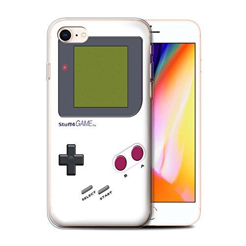 Stuff4 Gel TPU Hülle / Case für Apple iPhone SE / Weiß Muster / Videogamer/Gameboy Kollektion Weiß