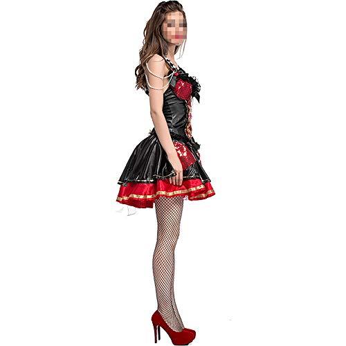 Professionelle Burlesque Kostüm - YyiHan Halloween Kostüm, Outfit Für Halloween Fasching Karneval Halloween Cosplay Horror Kostüm,herzkönigin-schachbrettclownmärchen Der Halloween-kostümpailletten Rote