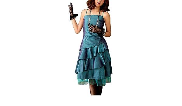 VIP Dress Satin Cocktailkleid   Jugendweihekleid   Abschlusskleid kurz in  Grün, Größe 38  Amazon.de  Bekleidung 8325a78a1c
