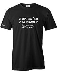 KLAR HAB ICH ZUGENOMMEN ICH WOG MAL 3500 GRAMM - HERREN - T-SHIRT