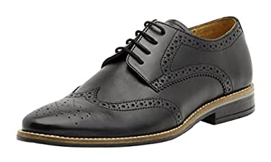 Brent Shoes Men's Black Petrus Brogue Leather Formals UK 44 / IND 10 (Regular Fit)