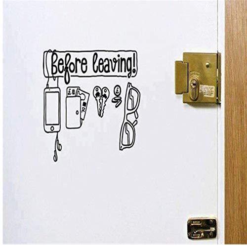Lovemq Wandaufkleber 43 * 57 Cm Wandtattoo Vinyl Aufkleber Vor Ihrem Urlaub Art Home Decoartion Brille Schlüssel Tür Wandbild Abnehmbare