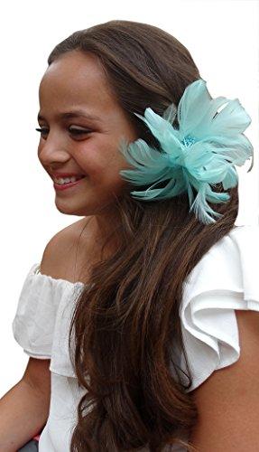 Jessidress Luxus Ibiza Haarblumen Haarblume Haar Blumen Haarspangen Haarclip Haar Clips Barrette Grün