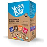 Yogabar Multigrain Variety Energy Bars - 380gm  (Chocolate, Vanilla Almonds, Cashew Orange and Nuts & Seeds), Pack of 10, 38gm x 10 Bars