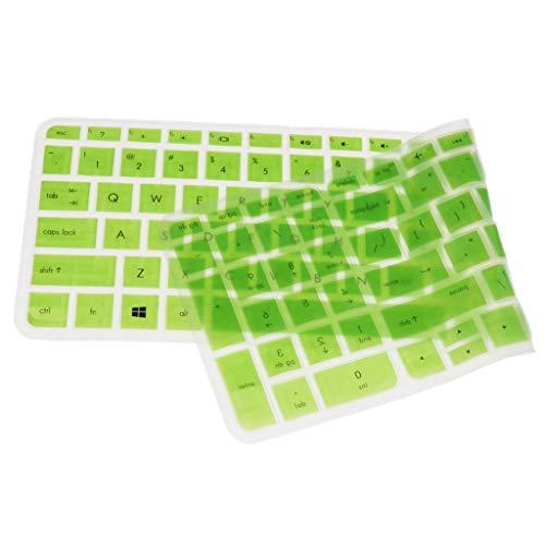 F Fityle Silikon Tasttaturschutz Keyboard-Abdeckung Silikon Skin Cover für HP Pavilion 15-Zoll Notebooks - # 4