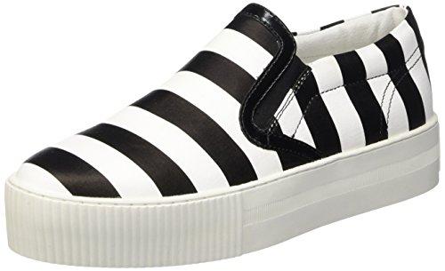 Cult W.a.s.p., Low-Top Chaussures femme Multicolore (Blanc/Noir)