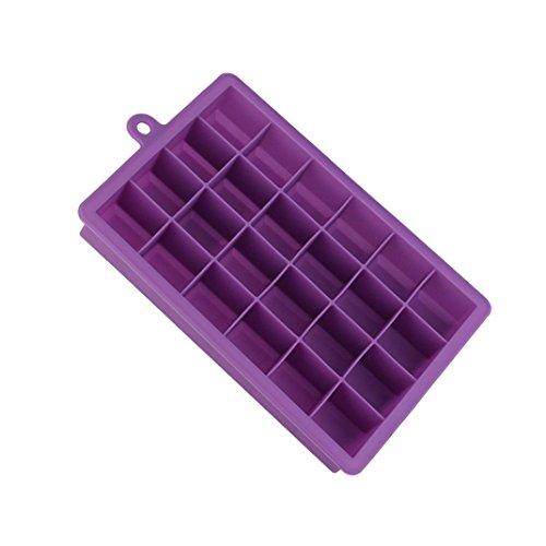 Trada DIY Form, Silikon Form Stangen Pudding Gelee Schokoladen Hersteller Form 24 Eis Würfel Eiswürfelformen Eiswürfelschale Apfel Stern Geformt Gelee Süßigkeit Seife, die Form bildet (Lila) (Pc Eis-box)