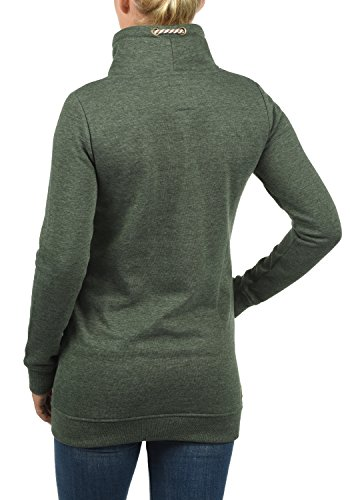 DESIRES Vilma Damen Pullover Sweatshirt mit Tube-Kragen aus hochwertiger Baumwollmischung Climb Ivy (8785)