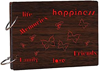 Studio Shubham Life,Friends,Family,Memories Wooden Photo Album(26cm x 16cm x 4cm)