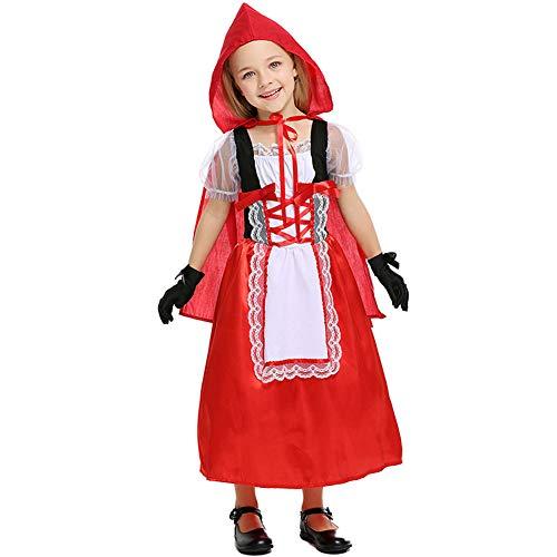 LOLANTA Mädchen Rotkäppchen-Kostüm für Kinder, Halloween-Kostüm, Cosplay-Kostüm