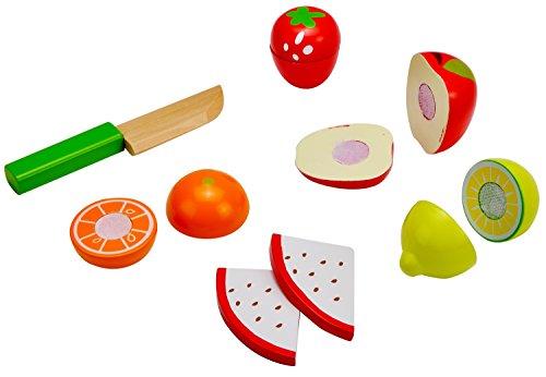 Idena 4100113 - Kleine Küchenmeister Obst - Mix aus Holz, ca. 16 x 10 x 8 cm, 11-teiliges Set
