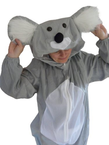 Für Erwachsene Zoo Kostüm Tier - Koala-Bär Kostüm, J42, Gr. M-L, Fasnachts-Kostüme Tier-Kostüme, Koala-Kostüme Koala-Bären für Fasching Karneval Fasnacht, Geschenk für Erwachsene