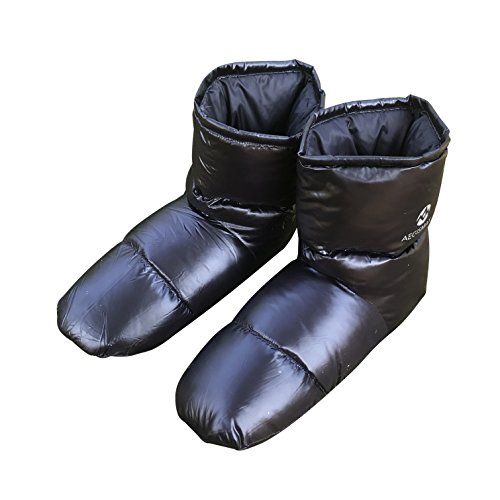 AEGISMAX Daunenschuhe Herren Daunen Hausschuhe Socke Thermische Isolierte Winterstiefel Schuhe - Socken Herren-daunen