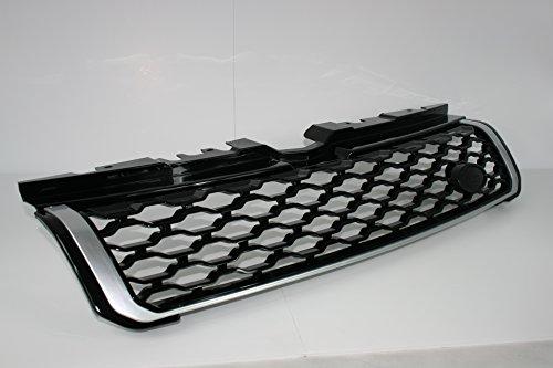 Zunsport Kompatibel mit Range Rover Evoque Dynamic, Java Schwarz, glänzend mit silberfarbener Verkleidung, Frontgrill-Upgrade (2011-2018)